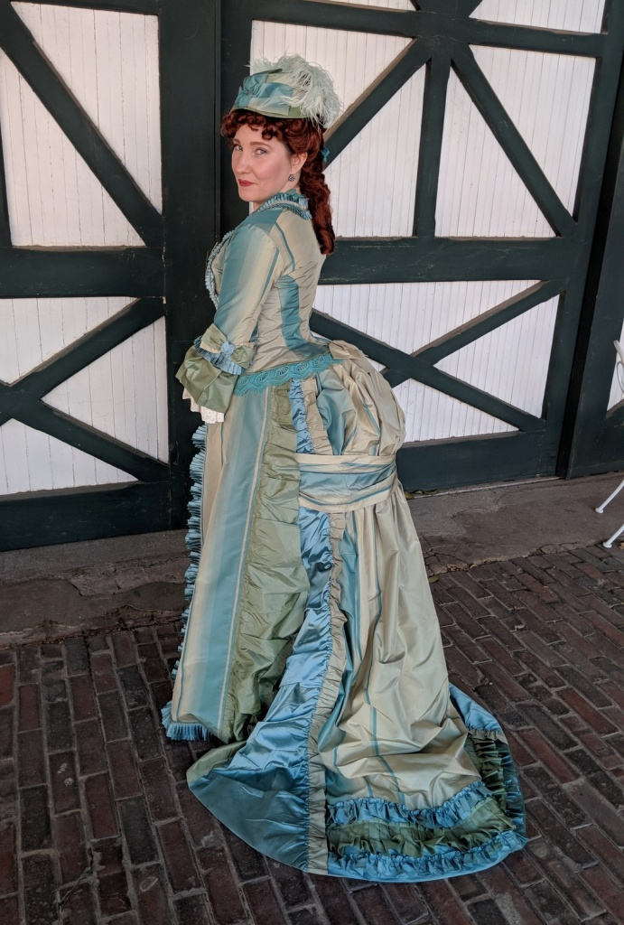 Mid-1870s Day-to-Night Bustle Dress | The Modern Mantua-Maker